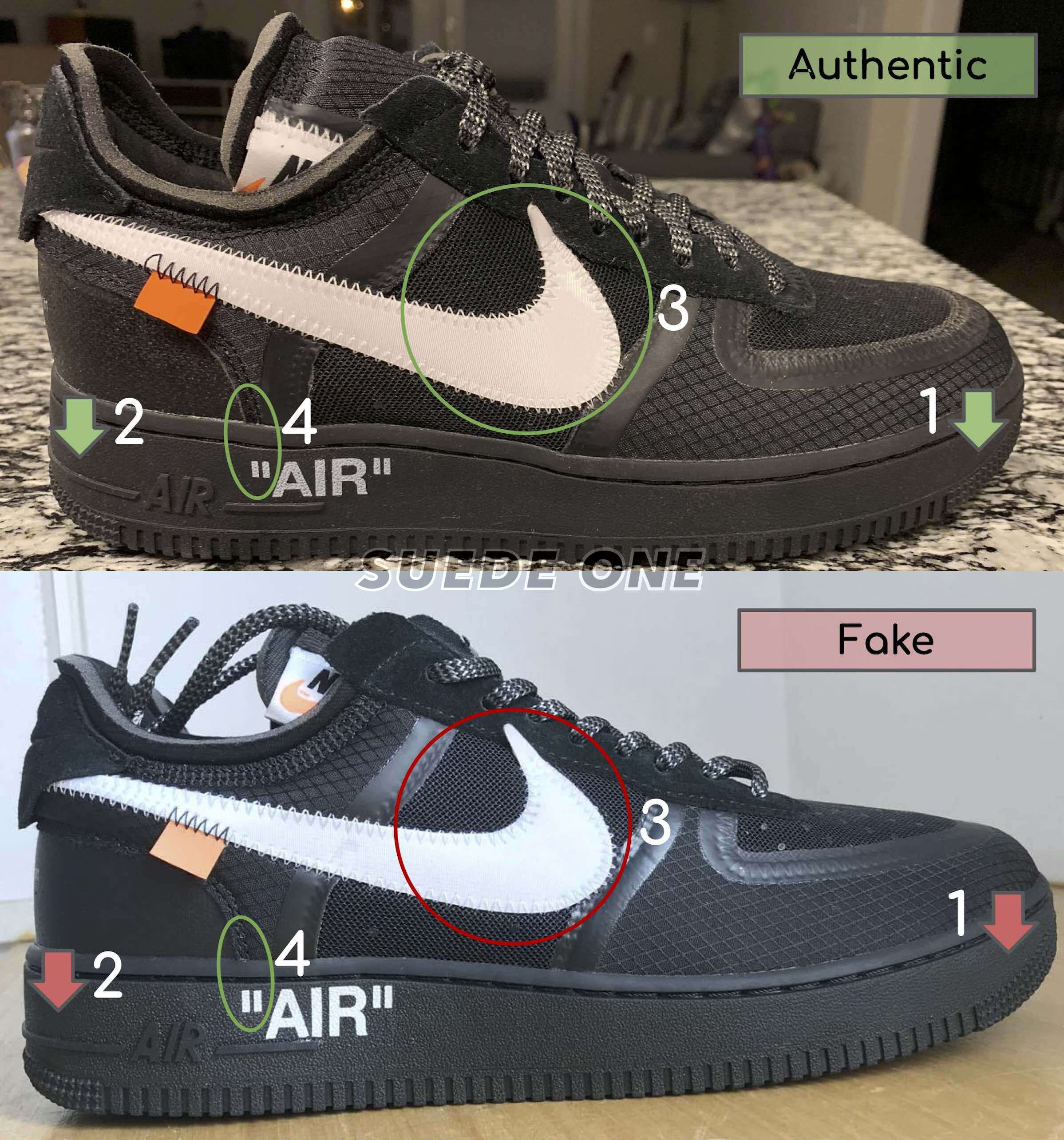 How To Legit Check The Off White Air Force 1 Low Black