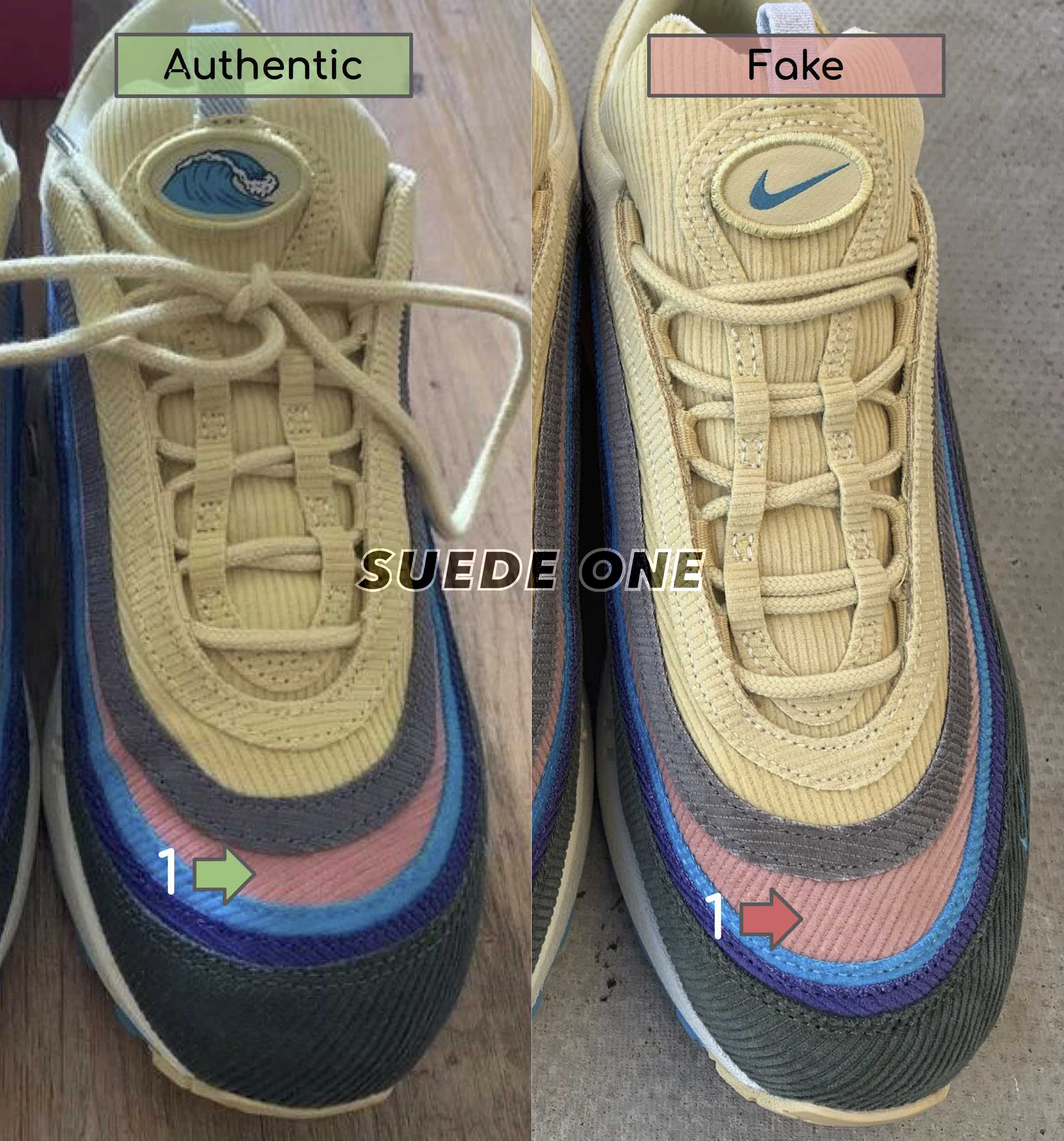 Air Max 1/97 Sean Wotherspoon - Real vs