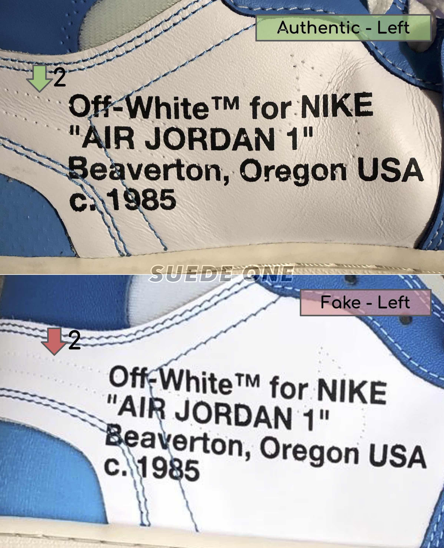 replica off white jordan 1 unc