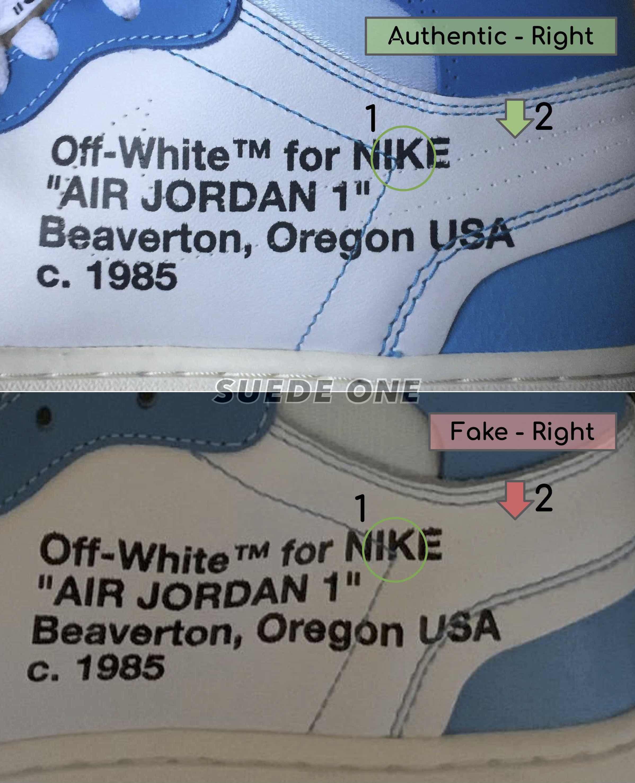 air jordan 1 off white blue fake vs real